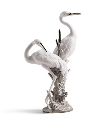 Courting Cranes (re-deco) Lladro Figurine