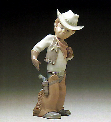 Cow-boy Puppet Lladro Figurine