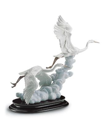 Cranes In Flight (b) Lladro Figurine