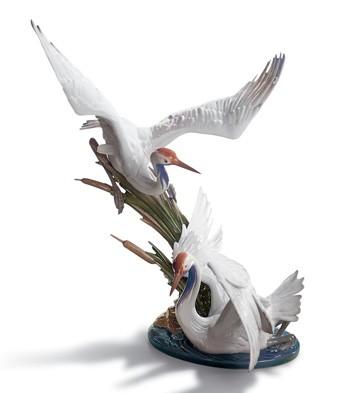 Cranes Lladro Figurine
