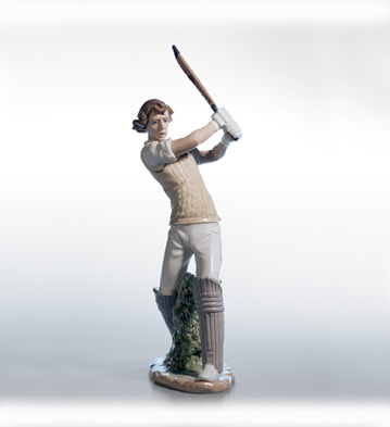 Cricket Player Lladro Figurine