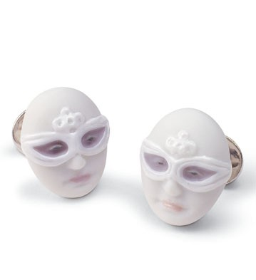 Cufflinks Mask Face Lladro Figurine