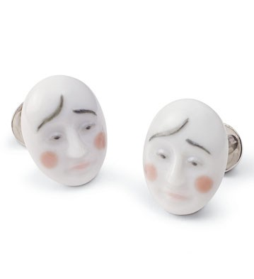Cufflinks Smart Clown Lladro Figurine