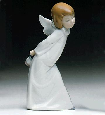 Curious Angel Lladro Figurine