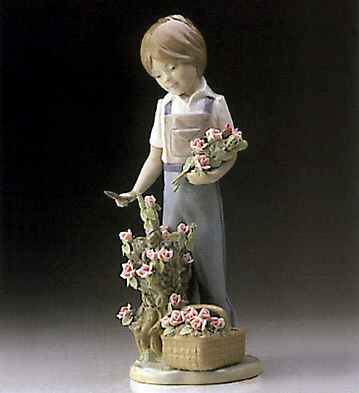 Cutting Flowers Lladro Figurine