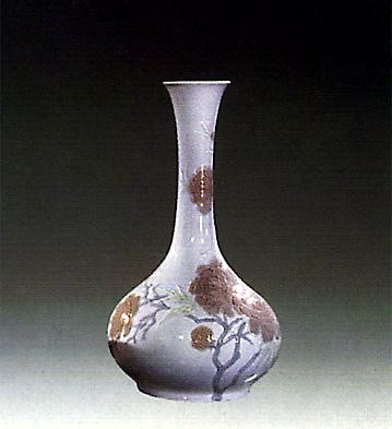 Cylindric-vase Blue Peony Lladro Figurine