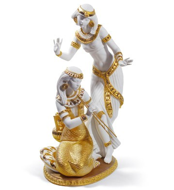Dancers From The Nile (golden Re-deco) Lladro Figurine