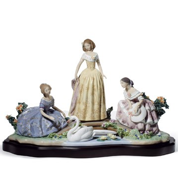 Daydreaming By The Pond Lladro Figurine