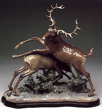 Deer's Fight (b) Lladro Figurine