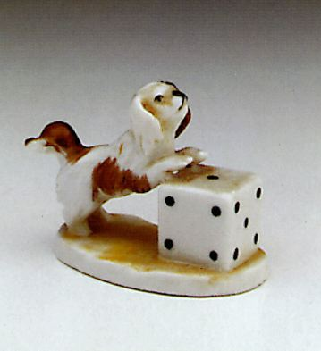 Dog & Dice Lladro Figurine
