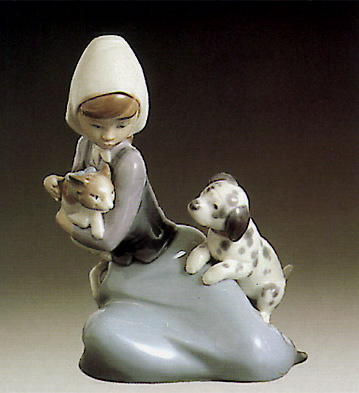 Dog And Cat Lladro Figurine
