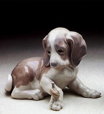 Dog And Snail Lladro Figurine