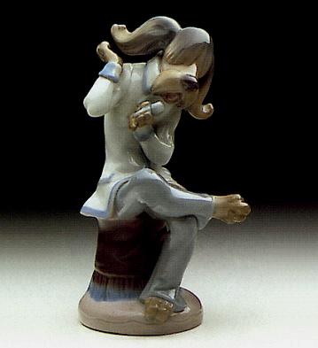 Dog Singer Lladro Figurine
