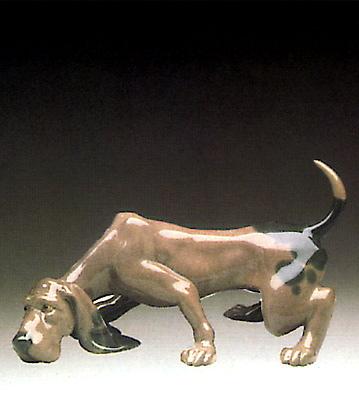 Dog Sniffing Lladro Figurine