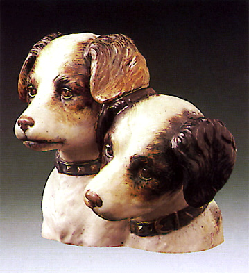 Dogs-bust- Lladro Figurine