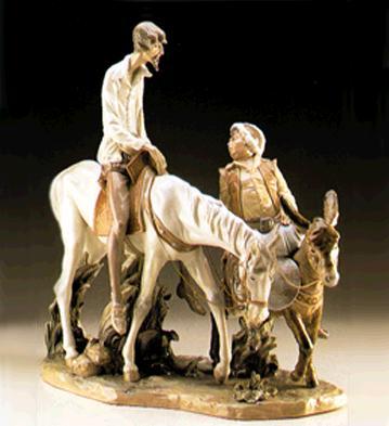 Don Quixote & Sancho (s.l Lladro Figurine