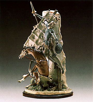 Don Quixote And The Windm Lladro Figurine
