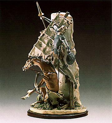 Don Quixote And The Windm Lladro Figurine