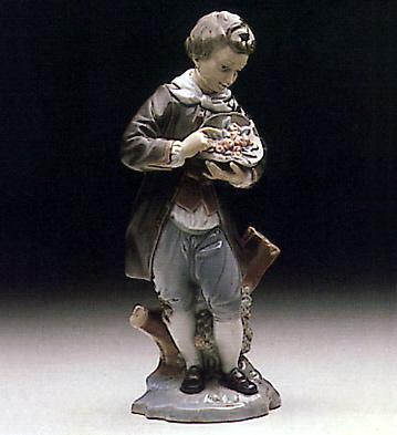 Doncel W/rose Lladro Figurine