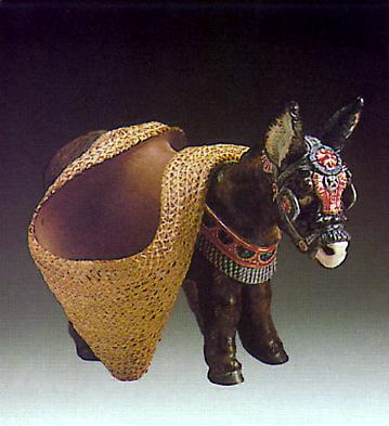 Donckey W. Pack-saddle Lladro Figurine