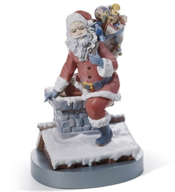 Down The Chimney Lladro Figurine