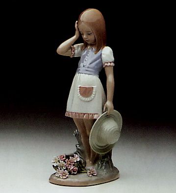 Dropping The Flowers Lladro Figurine