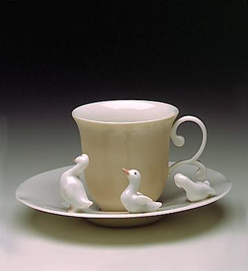 Duck Cup With Saucer Lladro Figurine
