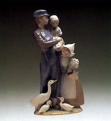 Dutch Children Lladro Figurine