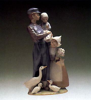 Dutch Children Lladro Figurine