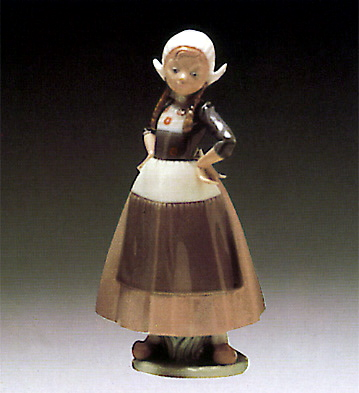 Dutch-girl Hands Akimbo Lladro Figurine