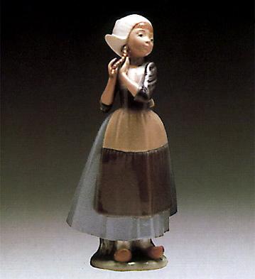 Dutch-girl With Braids Lladro Figurine