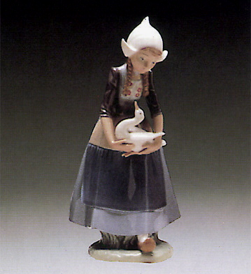 Dutch-girl With Ducks Lladro Figurine