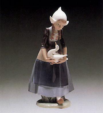 Dutch-girl With Ducks Lladro Figurine