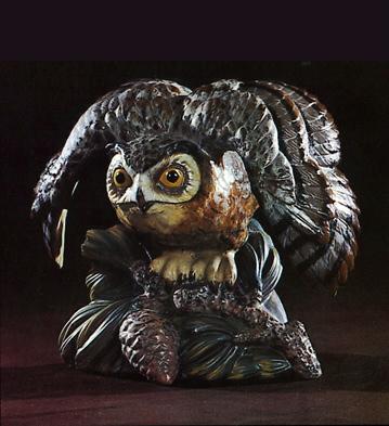 Eagle-owl Lladro Figurine