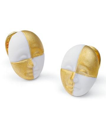 Earrings Harlequin Face Lladro Figurine
