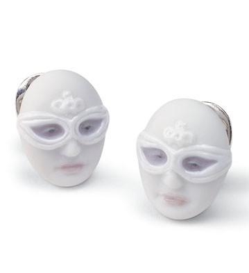 Earrings Mask Face Lladro Figurine