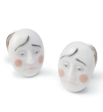 Earrings Smart Clown Lladro Figurine