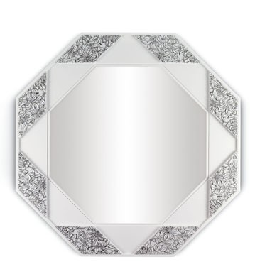 Eight Sided Mirror (black & White) Lladro Figurine