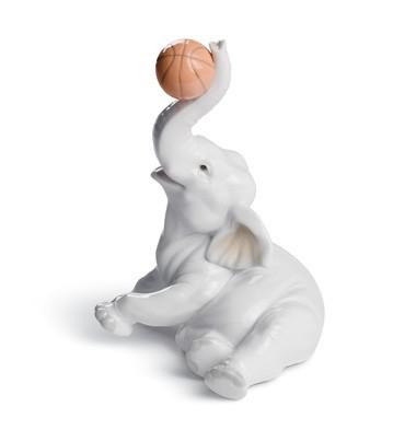 Elephant Basket Lladro Figurine