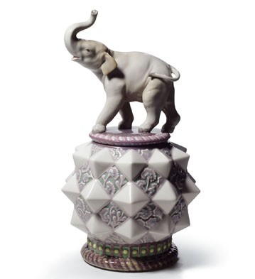 Elephant Box Lladro Figurine