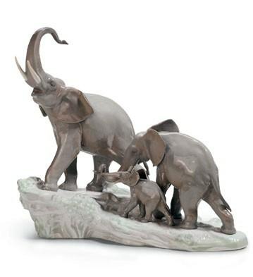 Elephants Walking Lladro Figurine