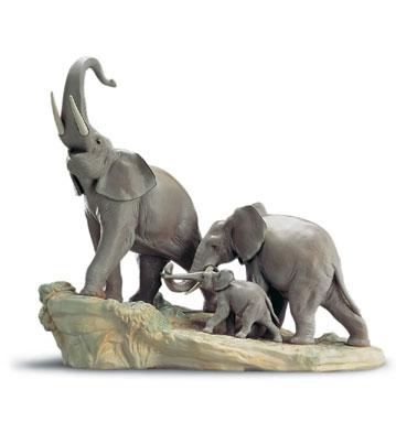 Elephants Lladro Figurine
