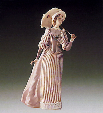 English Lady Lladro Figurine