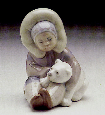 Eskimo Playing Lladro Figurine
