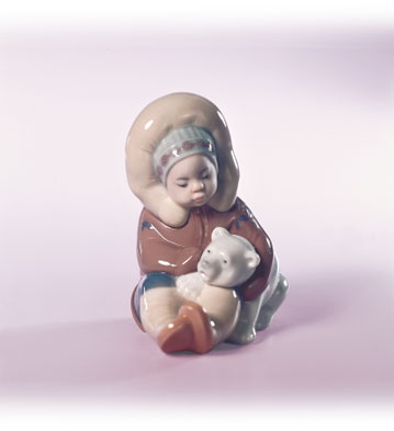 Eskimo Playing Lladro Figurine