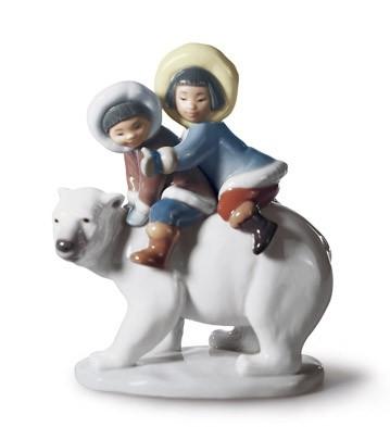 Eskimo Riders Lladro Figurine