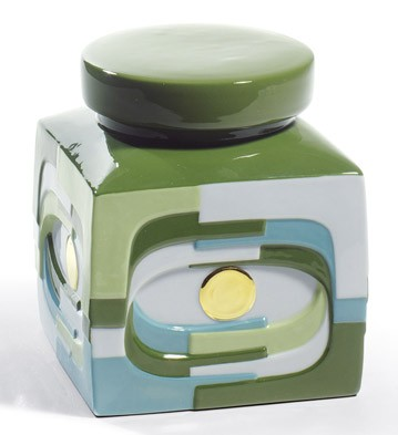 Estratos - Box (green) Lladro Figurine