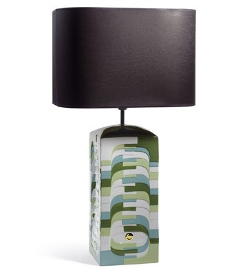 Estratos - Large Lamp -green (us) Lladro Figurine