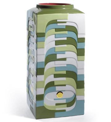 Estratos - Large Vase (green) Lladro Figurine