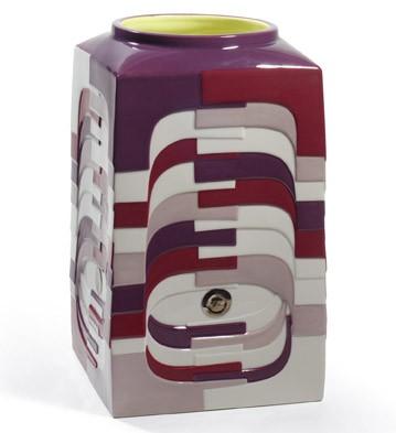 Estratos - Medium Vase (burgundy) Lladro Figurine